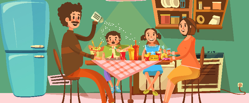 famiglia-a-tavola farmacia san carlo secondigliano